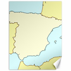 Spain Map Modern Canvas 18  X 24   by Mariart