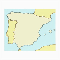 Spain Map Modern Small Glasses Cloth (2 Side)