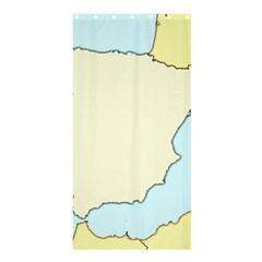 Spain Map Modern Shower Curtain 36  X 72  (stall)  by Mariart