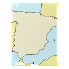 Spain Map Modern Apple Ipad 3/4 Hardshell Case (compatible With Smart Cover) by Mariart
