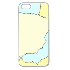 Spain Map Modern Apple Seamless Iphone 5 Case (clear) by Mariart