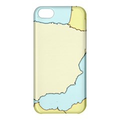 Spain Map Modern Apple Iphone 5c Hardshell Case by Mariart