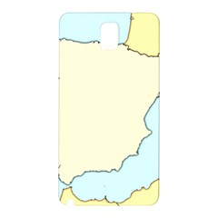 Spain Map Modern Samsung Galaxy Note 3 N9005 Hardshell Back Case by Mariart