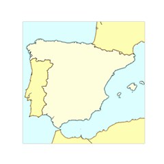 Spain Map Modern Small Satin Scarf (square) by Mariart