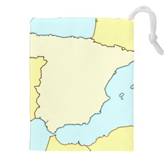 Spain Map Modern Drawstring Pouches (xxl) by Mariart