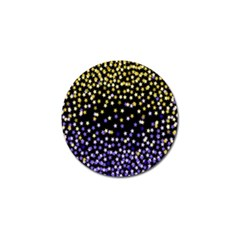 Space Star Light Gold Blue Beauty Black Golf Ball Marker (10 Pack) by Mariart