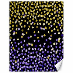 Space Star Light Gold Blue Beauty Black Canvas 18  X 24   by Mariart