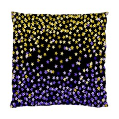 Space Star Light Gold Blue Beauty Black Standard Cushion Case (two Sides)