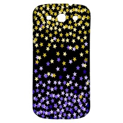 Space Star Light Gold Blue Beauty Black Samsung Galaxy S3 S Iii Classic Hardshell Back Case by Mariart