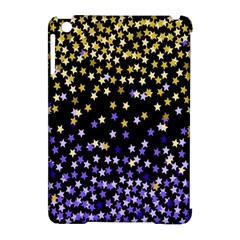 Space Star Light Gold Blue Beauty Black Apple Ipad Mini Hardshell Case (compatible With Smart Cover) by Mariart
