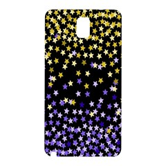 Space Star Light Gold Blue Beauty Black Samsung Galaxy Note 3 N9005 Hardshell Back Case by Mariart