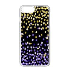 Space Star Light Gold Blue Beauty Black Apple Iphone 7 Plus White Seamless Case
