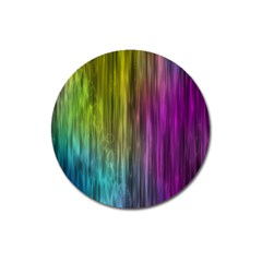 Rainbow Bubble Curtains Motion Background Space Magnet 3  (round)