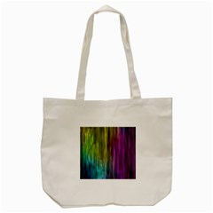 Rainbow Bubble Curtains Motion Background Space Tote Bag (cream) by Mariart