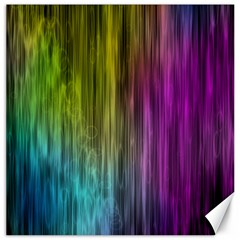 Rainbow Bubble Curtains Motion Background Space Canvas 16  X 16   by Mariart