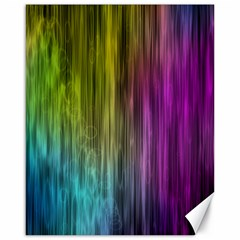 Rainbow Bubble Curtains Motion Background Space Canvas 16  X 20   by Mariart