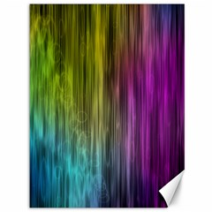 Rainbow Bubble Curtains Motion Background Space Canvas 36  X 48   by Mariart