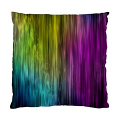 Rainbow Bubble Curtains Motion Background Space Standard Cushion Case (one Side) by Mariart