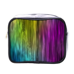 Rainbow Bubble Curtains Motion Background Space Mini Toiletries Bags by Mariart