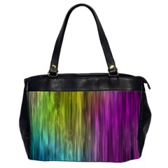 Rainbow Bubble Curtains Motion Background Space Office Handbags (2 Sides)  by Mariart