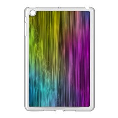 Rainbow Bubble Curtains Motion Background Space Apple Ipad Mini Case (white) by Mariart