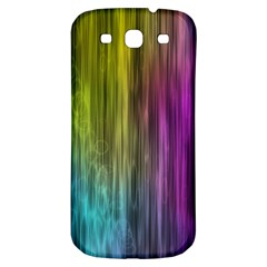Rainbow Bubble Curtains Motion Background Space Samsung Galaxy S3 S Iii Classic Hardshell Back Case by Mariart