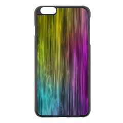 Rainbow Bubble Curtains Motion Background Space Apple Iphone 6 Plus/6s Plus Black Enamel Case by Mariart