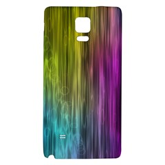 Rainbow Bubble Curtains Motion Background Space Galaxy Note 4 Back Case by Mariart