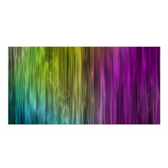 Rainbow Bubble Curtains Motion Background Space Satin Shawl by Mariart