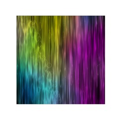 Rainbow Bubble Curtains Motion Background Space Small Satin Scarf (square) by Mariart