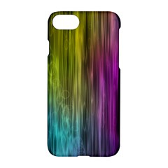 Rainbow Bubble Curtains Motion Background Space Apple Iphone 7 Hardshell Case by Mariart
