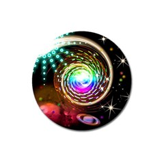 Space Star Planet Light Galaxy Moon Magnet 3  (round)
