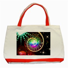 Space Star Planet Light Galaxy Moon Classic Tote Bag (red) by Mariart