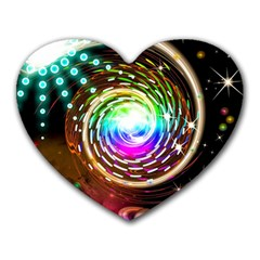 Space Star Planet Light Galaxy Moon Heart Mousepads by Mariart