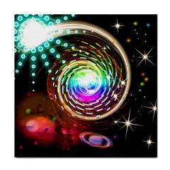 Space Star Planet Light Galaxy Moon Face Towel