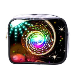 Space Star Planet Light Galaxy Moon Mini Toiletries Bags by Mariart