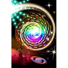 Space Star Planet Light Galaxy Moon 5 5  X 8 5  Notebooks by Mariart