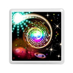 Space Star Planet Light Galaxy Moon Memory Card Reader (square)  by Mariart