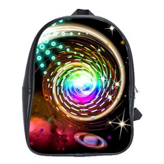 Space Star Planet Light Galaxy Moon School Bag (xl) by Mariart