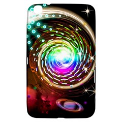 Space Star Planet Light Galaxy Moon Samsung Galaxy Tab 3 (8 ) T3100 Hardshell Case  by Mariart