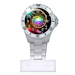 Space Star Planet Light Galaxy Moon Plastic Nurses Watch by Mariart