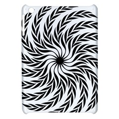 Spiral Leafy Black Floral Flower Star Hole Apple Ipad Mini Hardshell Case by Mariart