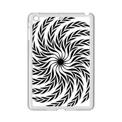 Spiral Leafy Black Floral Flower Star Hole Ipad Mini 2 Enamel Coated Cases