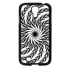 Spiral Leafy Black Floral Flower Star Hole Samsung Galaxy S4 I9500/ I9505 Case (black) by Mariart