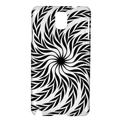 Spiral Leafy Black Floral Flower Star Hole Samsung Galaxy Note 3 N9005 Hardshell Case by Mariart