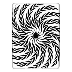 Spiral Leafy Black Floral Flower Star Hole Ipad Air Hardshell Cases by Mariart