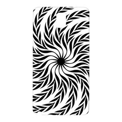 Spiral Leafy Black Floral Flower Star Hole Samsung Galaxy Note 3 N9005 Hardshell Back Case by Mariart