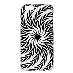 Spiral Leafy Black Floral Flower Star Hole Apple Iphone 6 Plus/6s Plus Hardshell Case by Mariart