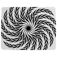 Spiral Leafy Black Floral Flower Star Hole Jigsaw Puzzle Photo Stand (rectangular) by Mariart