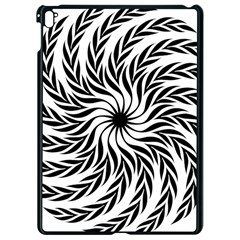 Spiral Leafy Black Floral Flower Star Hole Apple Ipad Pro 9 7   Black Seamless Case by Mariart